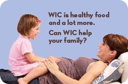 Get on the WIC food program
